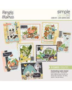 Love Grows Here Card Kit - Simple Cards - Simple Vintage Farmhouse Garden - Simple Stories