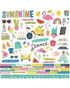 Sunkissed Cardstock Stickers - Simple Stories