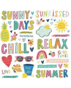 Sunkissed Foam Stickers - Simple Stories