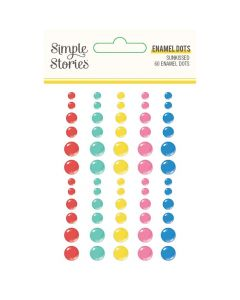 Sunkissed Enamel Dots - Simple Stories