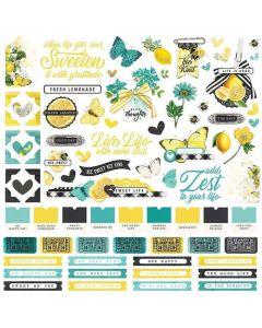 Simple Vintage Lemon Twist Cardstock Stickers - Simple Stories