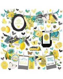 Simple Vintage Lemon Twist Banner Stickers - Simple Stories