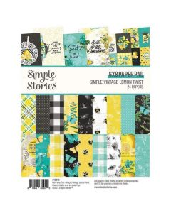 "Simple Vintage Lemon Twist 6"" x 8"" Paper Pad - Simple Stories"