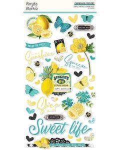 Simple Vintage Lemon Twist Chipboard - Simple Stories