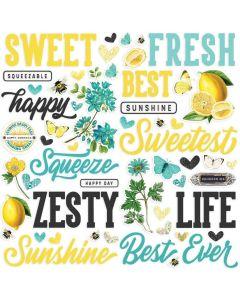 Simple Vintage Lemon Twist Foam Stickers - Simple Stories