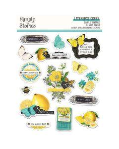 Simple Vintage Lemon Twist Layered Stickers - Simple Stories
