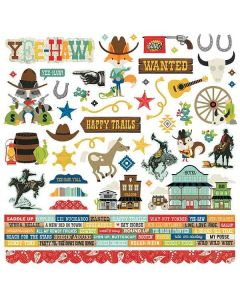 Howdy! Cardstock Stickers - Simple Stories