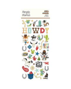 Howdy! Puffy Stickers - Simple Stories