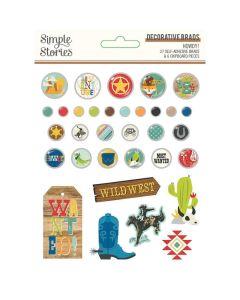 Howdy! Decorative Brads - Simple Stories