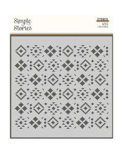 Aztec Stencil - Howdy! - Simple Stories