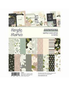 """Happily Ever After 6"""" x 8"""" Paper Pad - Simple Stories"""