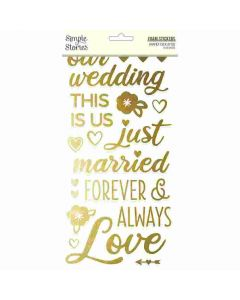 Happily Ever After Foam Stickers - Simple Stories