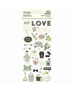 Happily Ever After Puffy Stickers - Simple Stories