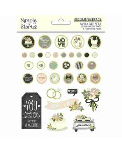 Happily Ever After Decorative Brads - Simple Stories