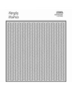 Herringbone Stencil - Happily Ever After - Simple Stories