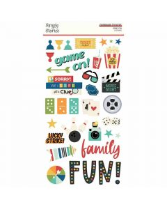 Family Fun Chipboard - Simple Stories