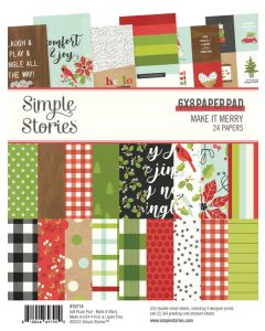 """Make it Merry 6"""" x 8"""" Paper Pad - Simple Stories"""