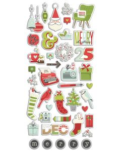 Make it Merry Puffy Stickers - Simple Stories