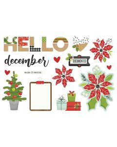 Hello December Simple Pages Pieces - Make it Merry - Simple Stories
