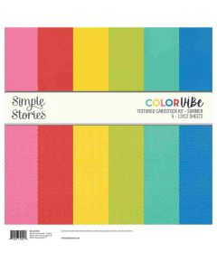 Summer Textured Cardstock Kit - Color Vibe - Simple Stories