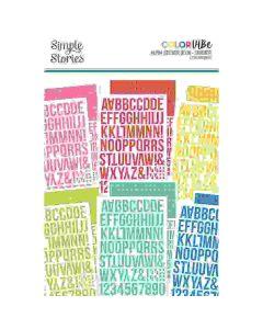 Summer Alphabet Sticker Book - Color Vibe - Simple Stories