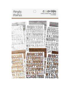 Woods Alphabet Sticker Book - Color Vibe - Simple Stories