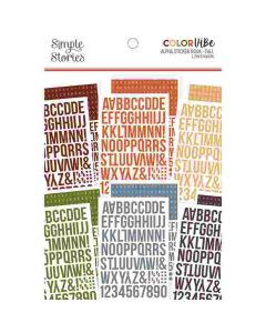 Fall Alphabet Sticker Book - Color Vibe - Simple Stories