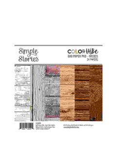 """Woods 6"""" x 8"""" Paper Pad - Color Vibe - Simple Stories"""
