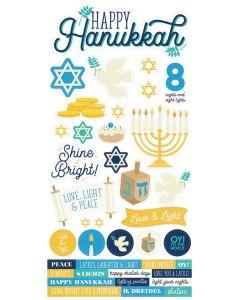 Happy Hanukkah Cardstock Stickers - Simple Stories
