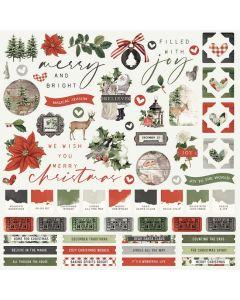 Simple Vintage Rustic Christmas Cardstock Stickers - Simple Stories