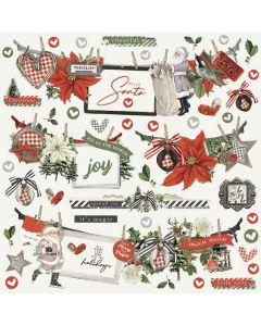 Simple Vintage Rustic Christmas Banner Stickers - Simple Stories