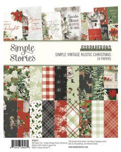 """Simple Vintage Rustic Christmas 6"""" x 8"""" Pad - Simple Stories"""