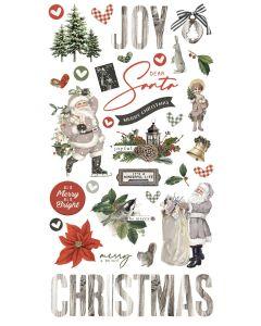 Simple Vintage Rustic Christmas Chipboard - Simple Stories