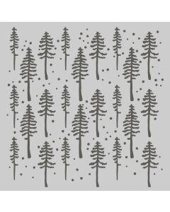 Rustic Trees Stencil - Simple Vintage Rustic Christmas - Simple Stories