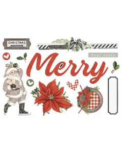 Merry Christmas Simple Pages Pieces - Simple Vintage Rustic Christmas - Simple Stories