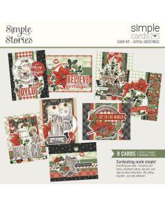Joyful Greetings Simple Card Kit - Simple Vintage Rustic Christmas - Simple Stories