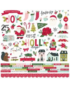 Holly Days Cardstock Stickers - Simple Stories