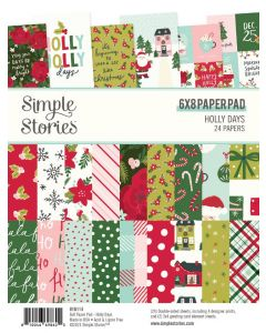 """Holly Days 6"""" x 8"""" Paper Pad - Simple Stories"""