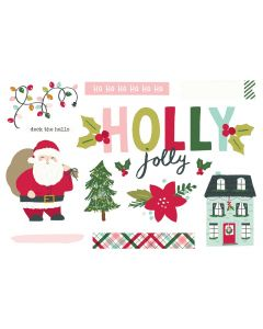 Holly Jolly Simple Pages Pieces - Holly Days - Simple Stories