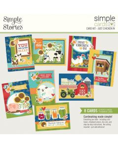 Just Chicken In Simple Card Kit - Homegrown - Simple Stories