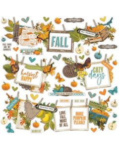 Simple Vintage Country Harvest Banner Stickers - Simple Stories