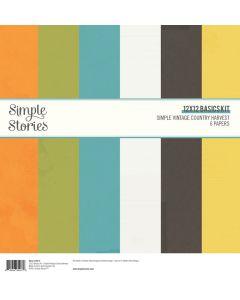 "Simple Vintage Country Harvest 12"" x 12"" Basics Kit - Simple Stories"
