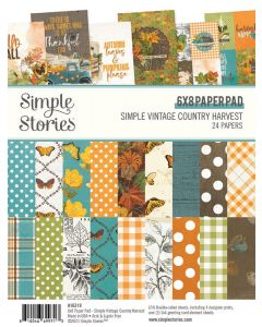 "Simple Vintage Country Harvest 6"" x 8"" Pad - Simple Stories"