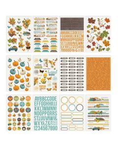 Simple Vintage Country Harvest Sticker Book - Simple Stories
