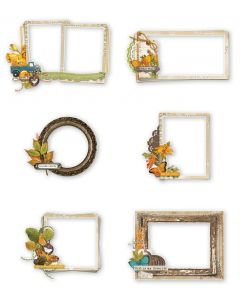 Simple Vintage Country Harvest Chipboard Frames - Simple Stories