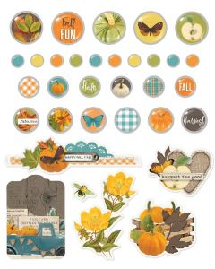 Simple Vintage Country Harvest Decorative Brads - Simple Stories