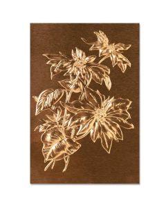 Poinsettia 3-D Texture Fades Embossing Folder - Tim Holtz - Sizzix*