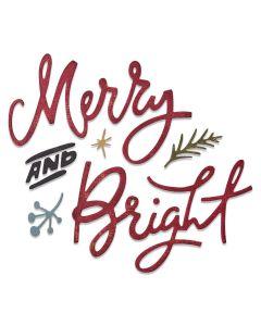 Merry & Bright Thinlits Dies - Tim Holtz - Sizzix