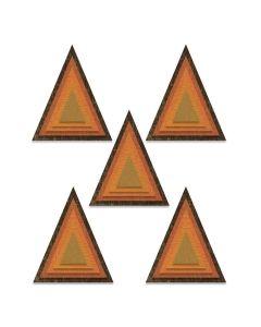 Triangles Stacked Tiles Thinlits Dies - Tim Holtz - Sizzix