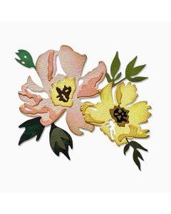 Brushstroke Flowers #1 Thinlits Dies - Tim Holtz - Sizzix